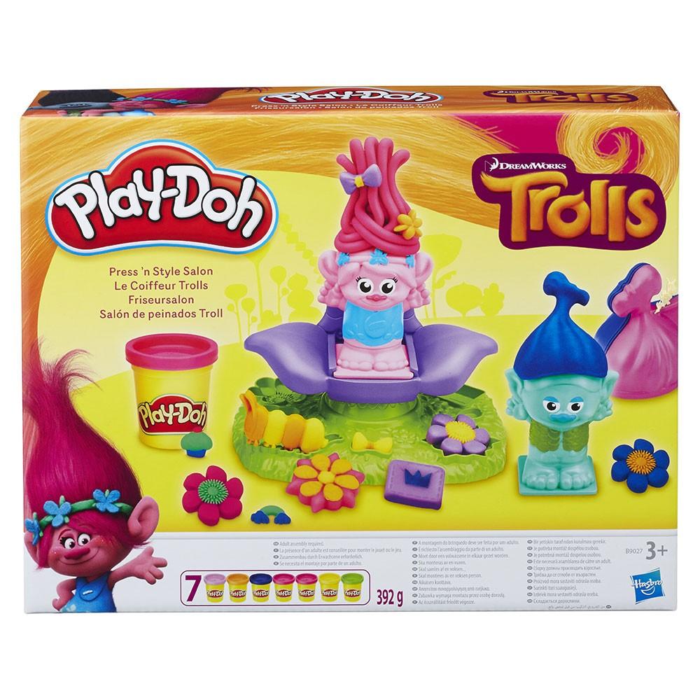 Play-Doh Игрален комплект фризьорски салон с Попи и Бранч Trolls B9027