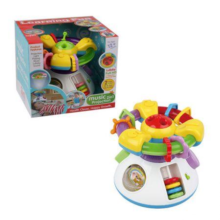 Бебешка играчка M-Toys, Волан с дейности, Проектор, Светлини и звуци