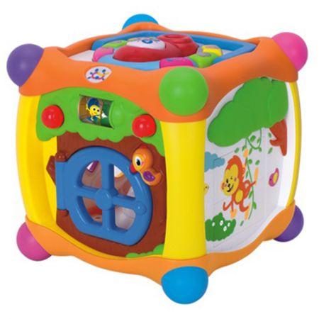 Интерактивен куб M-Toys, Пееща, Многоцветна