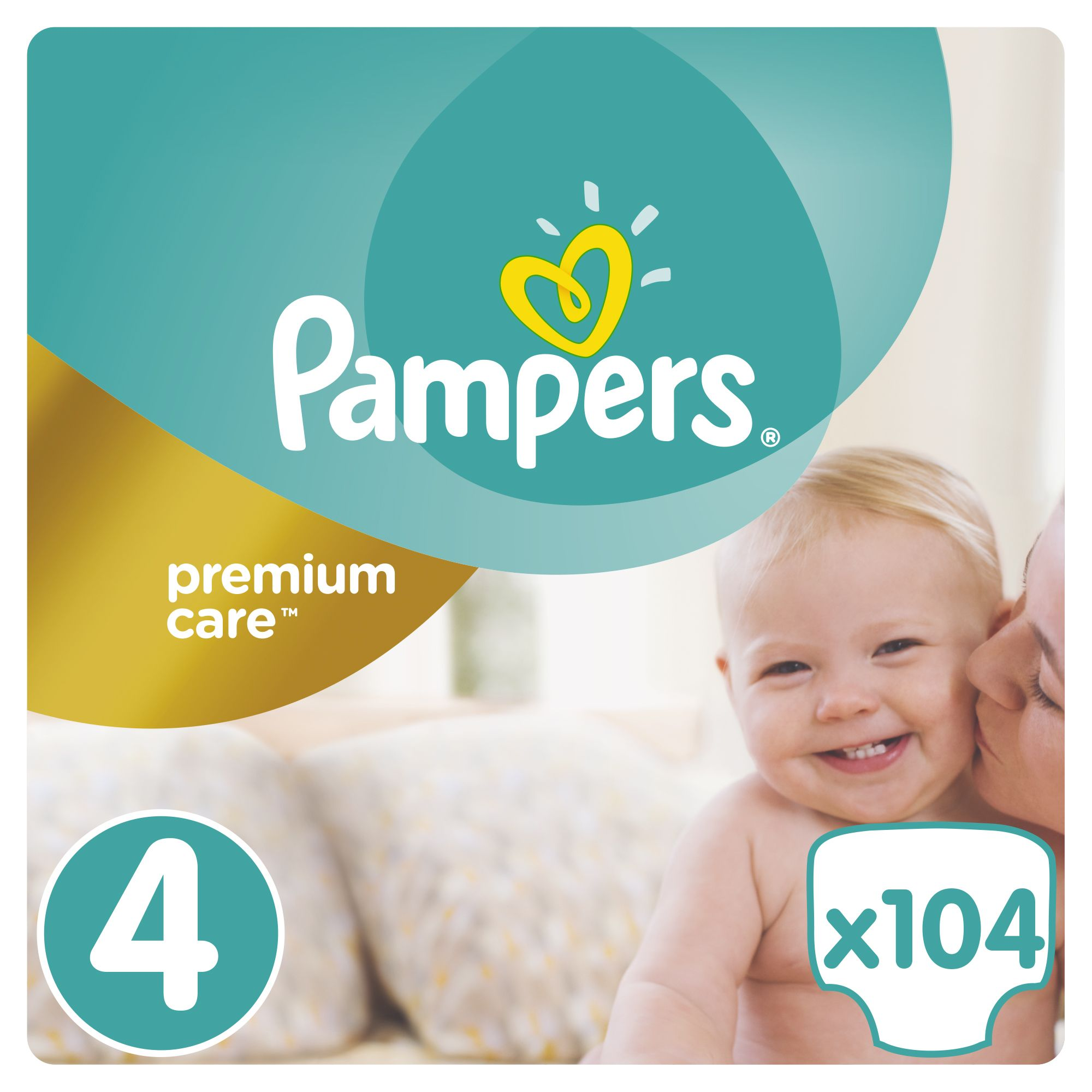 Пелени Pampers Premium Care Box 4, 8-14 кг, 104 броя