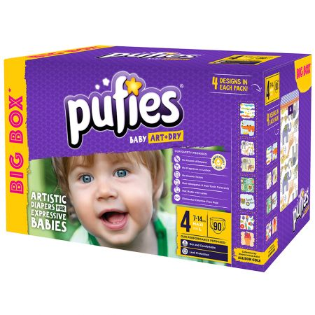 Пелени Pufies Art&Dry 4 Maxi, Big box, 90 бр