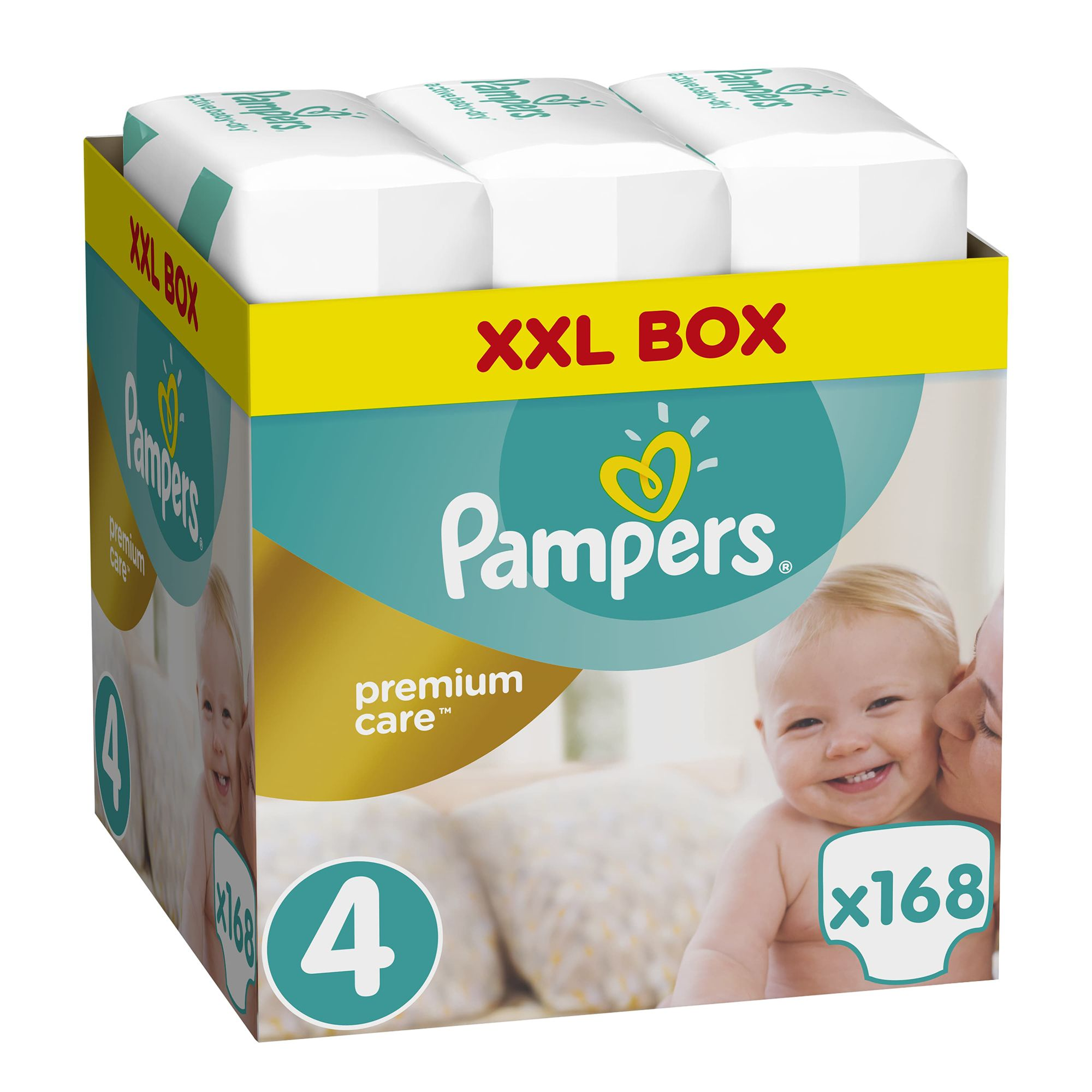 Пелени Pampers Premium Care BOX 4, 8-14 кг, 168 бр