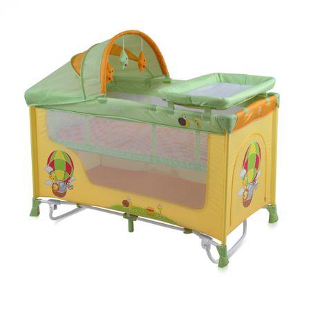 Сгъваема кошара Bertoni Lorelli, Nanny 2 Plus Rocker, 2 нива + Аксесоари, Система за люлеене, Многоцветна, Balloon