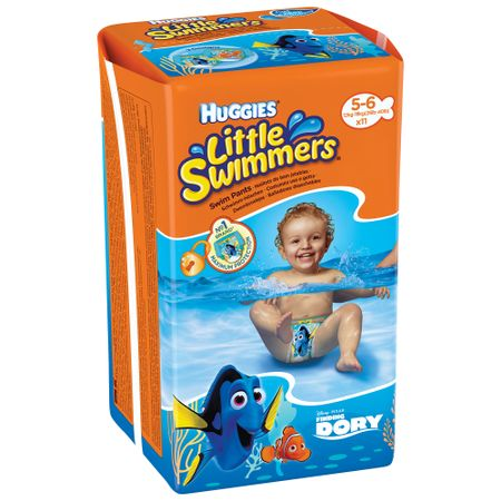 Гащички Huggies Little Swimmers, Размер 5 - 6, 12 - 18 кг, 11 броя