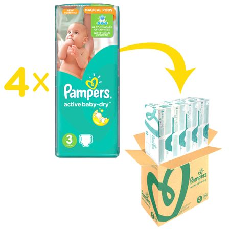 Пелени Pampers Active Baby BOX 3, 5-9 кг, 208 броя
