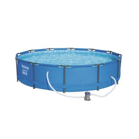 Надуваем басейн Bestway Steel Pro Max, 366 x 76 см