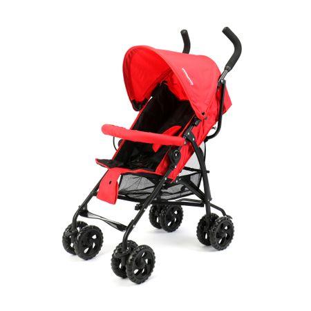 Детска количка Wunderkid със сенник, Сгъване тип чадър, Черна/Червена