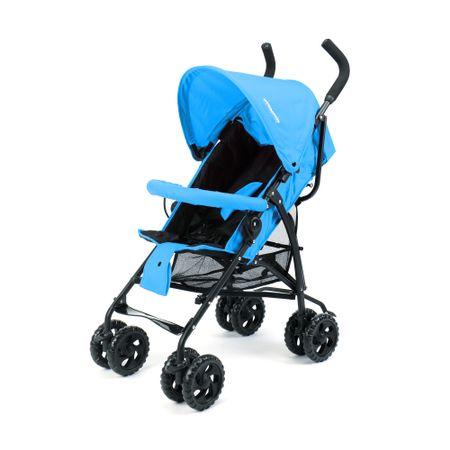Детска количка Wunderkid със сенник, Сгъване тип чадър, Черна/Синя
