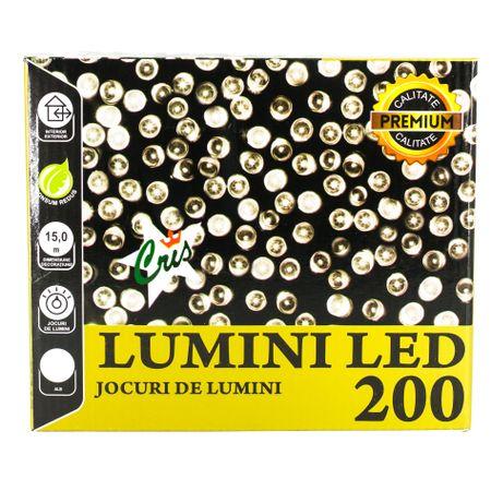 Декоративна инсталация CRIS, 200 Led светлини, 8 елемента, Бяла, Интериор/Екстериор