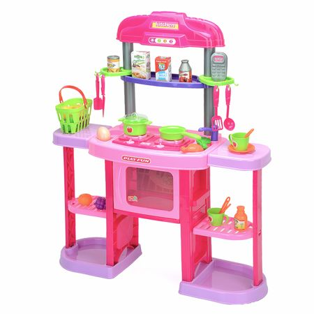 Детска кухня M-Toys с 32 аксесоара, Светлини и звуци
