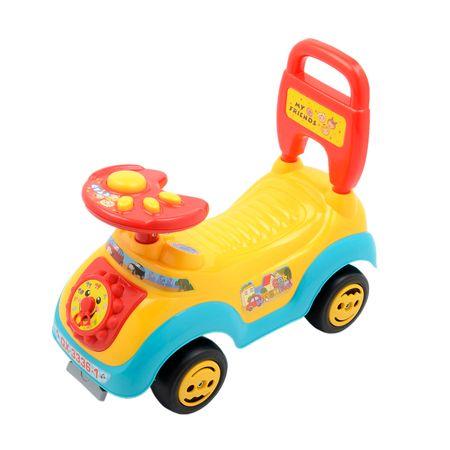 Кола Ride-on M-Toys, Облегалка и дръжка, Жълта