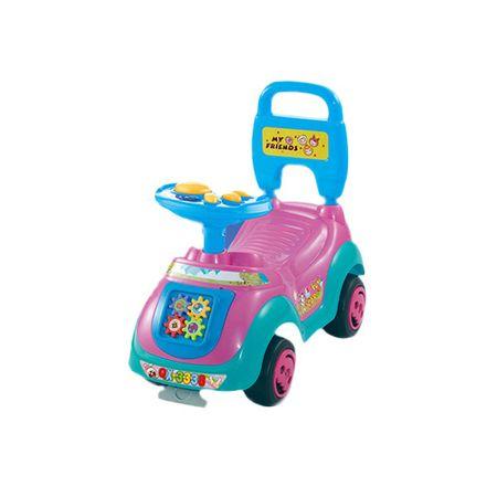 Кола Ride-on M-Toys, Облегалка и дръжка, Розова