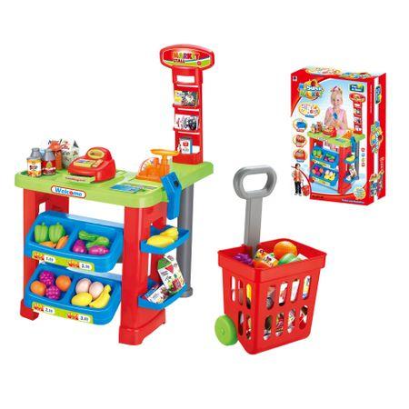 Комплект M-Toys, Супермаркет, Касовия апарат, Скенер, Рафтове, Звук и светлина