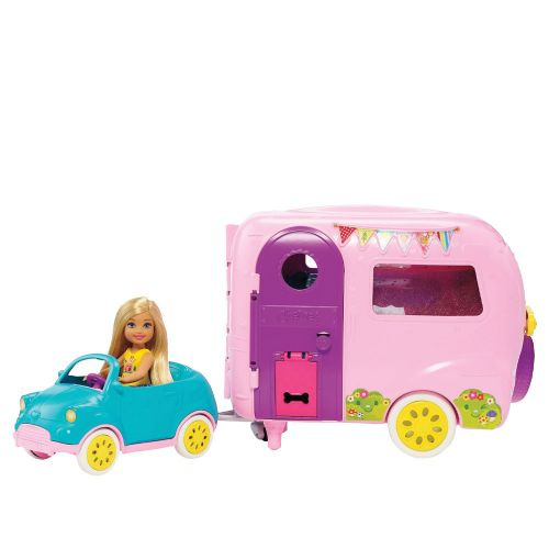 BARBIE Игрален комплект кукла и кемпер CHELSEA FAMILY CLUB FXG90
