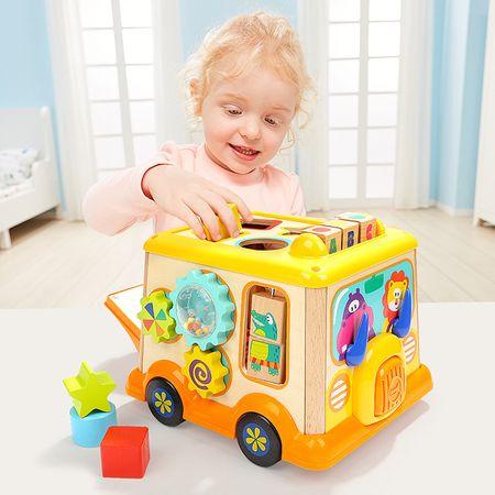Интерактивна играчка M-Toys - Автобус с фигури