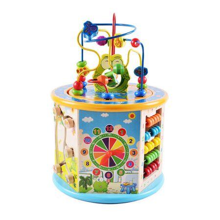 Дървенa играчкa M-Toys Happy - Цилиндър с дейности