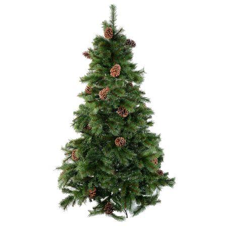 Изкуствена елха Kring Colorado, От PP и PVC, 150 см, Метална стойка