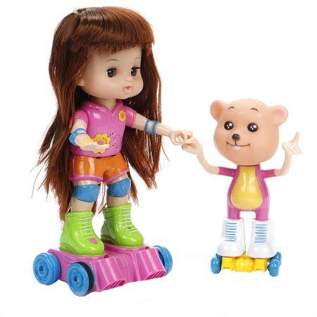 Комплект играчки Mappy, Кукла Bibi, 28 см и Мече, С функции