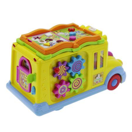 Образователна играчка M-Toys, Училищен автобус със светлини и звуци