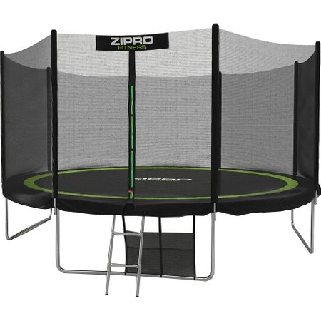 Батут Zipro, 435 см, Черен/Зелен