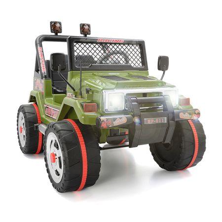 Детска електрическа кола Mappy, двуместна, Drifter Jeep, Зелена