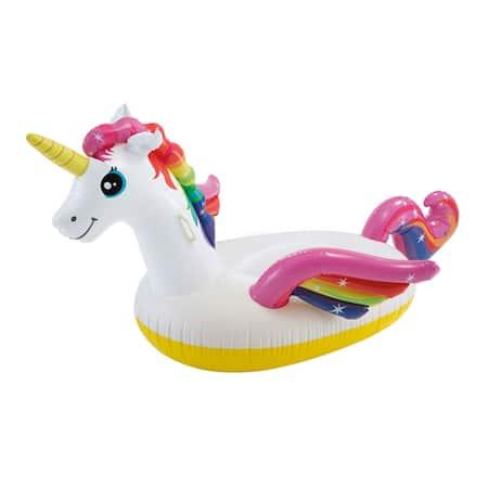 Надуваем дюшек Intex Unicorn Ride-On White, Еднорог, 2 м x 1.4 м