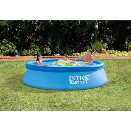 Надуваем басейн Intex Easy Set®, Включена помпа 220V / 1250 литра, 305 x 76 cм